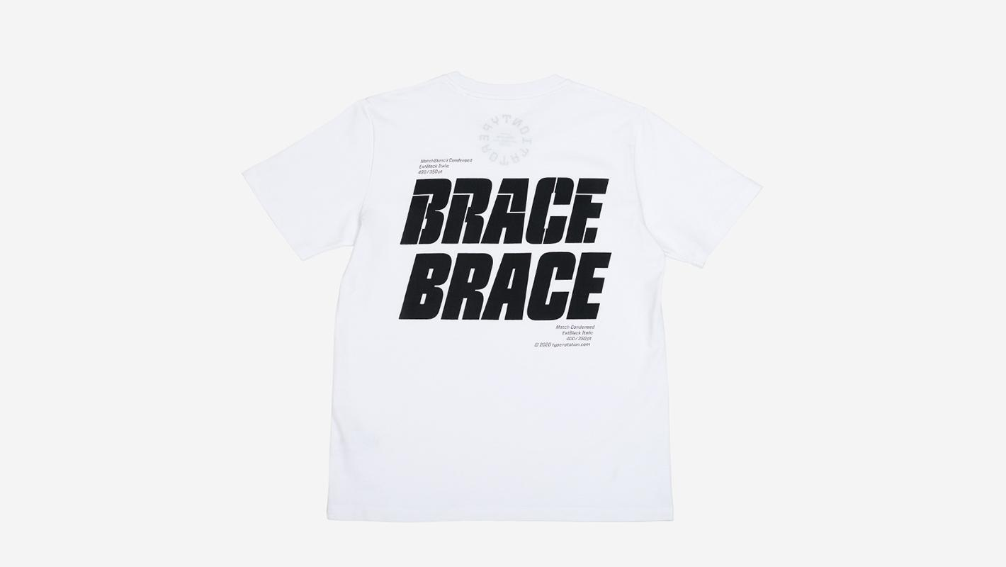 BRACE BRACE white